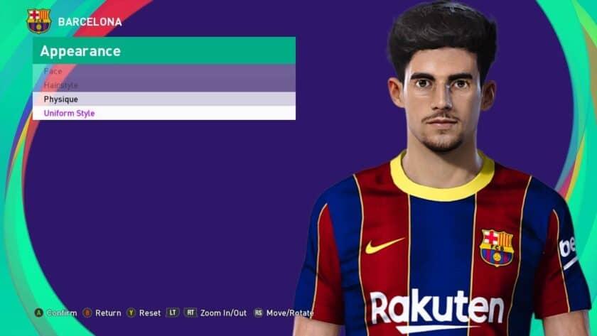 eFootball PES 2021 / Francisco Trincão Face