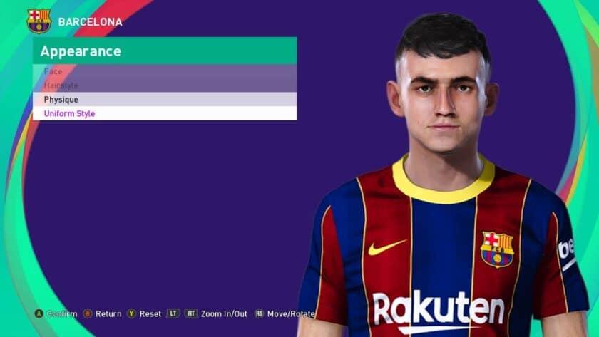 eFootball PES 2021 / Pedri Face