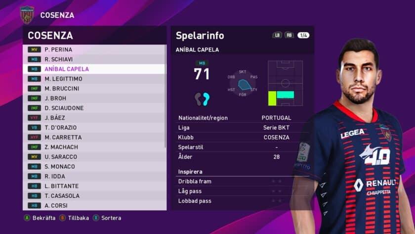 eFootball PES 2021 / Aníbal Capela Face