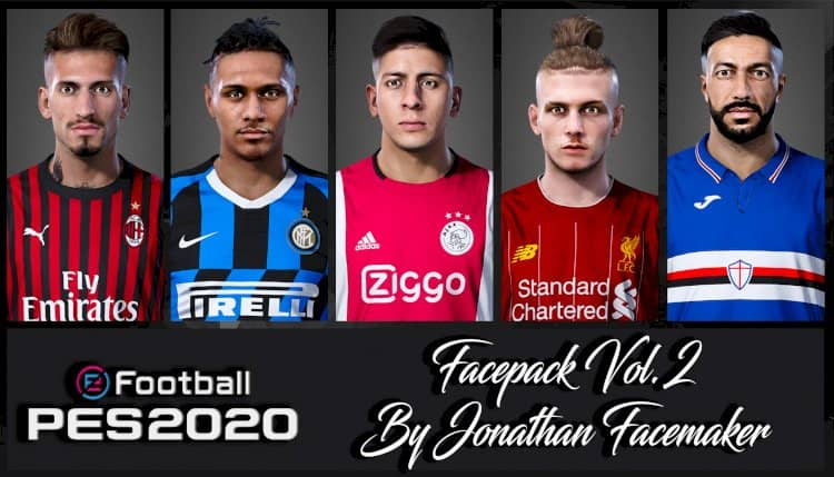 Facepack Vol. 2 для eFootball PES 20
