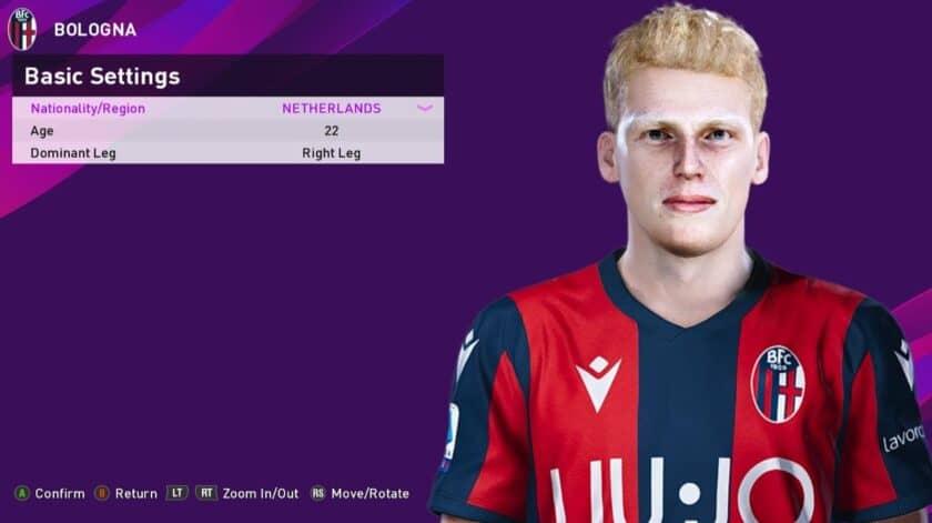 eFootball PES 2021 / Jerdy Schouten