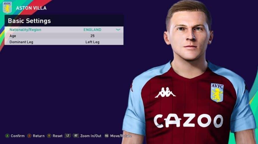 eFootball PES 2021 / Matt Targett Face