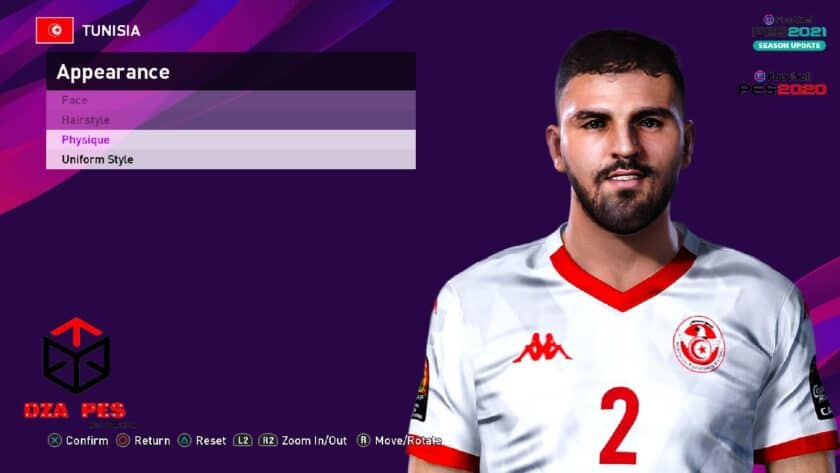 eFootball PES 2021 / Syam Ben Youssef Face