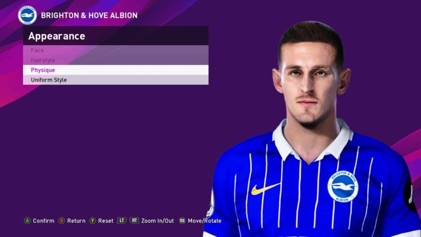 eFootball PES 2021 / Lewis Dunk Face