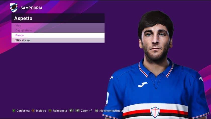 eFootball PES 2021 / Tommaso Augello Face