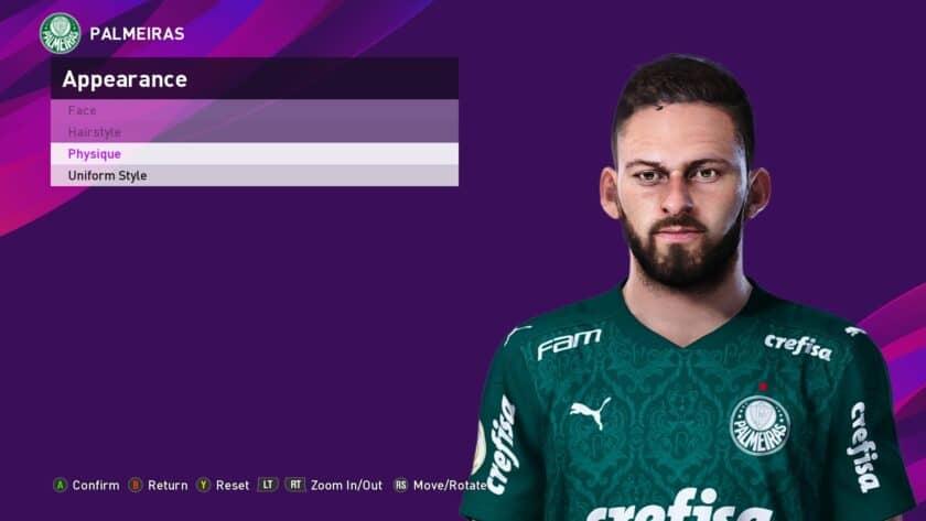 eFootball PES 2021 / Lucas Lima Face