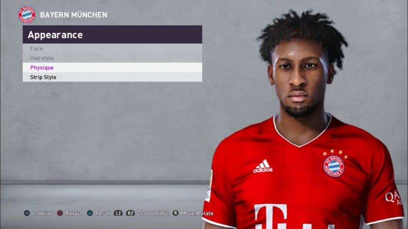 eFootball PES 2021 / Kingsley Coman Face