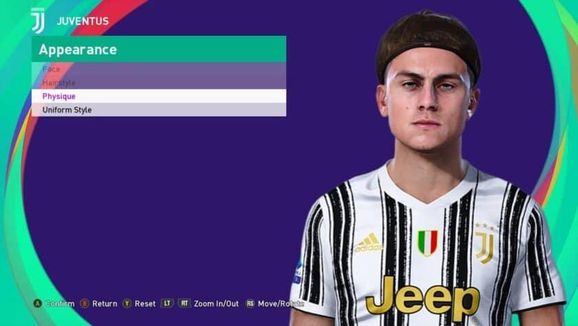 eFootball PES 2021 / Dyabala Face