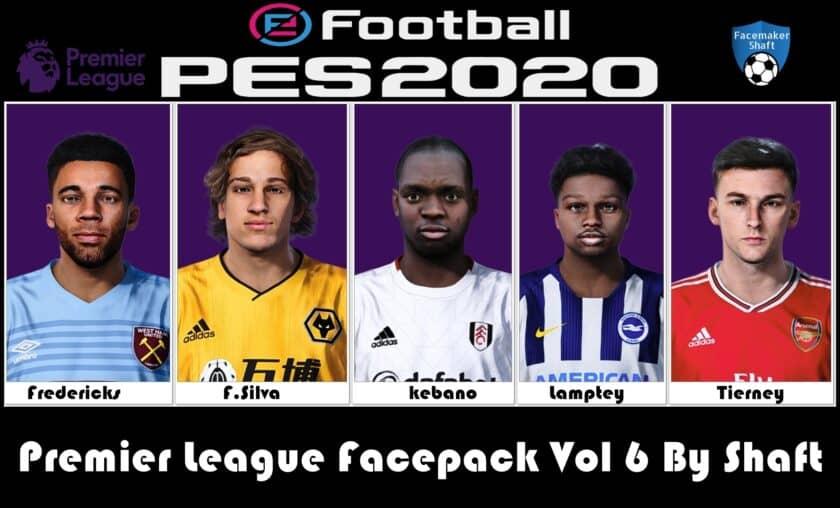 eFootball PES 2021 / Premier League Facepack Vol 6