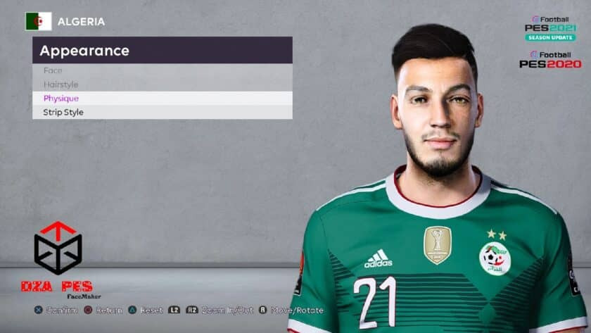 eFootball PES 2021 / Ramy Bensebaini Face
