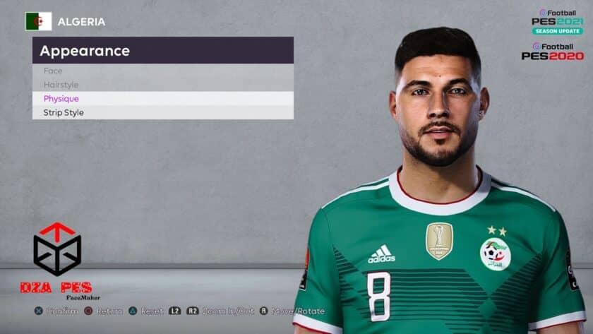 eFootball PES 2021 / Youcef Belaïli Face