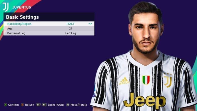eFootball PES 2021 / Gianluca Frabotta Face