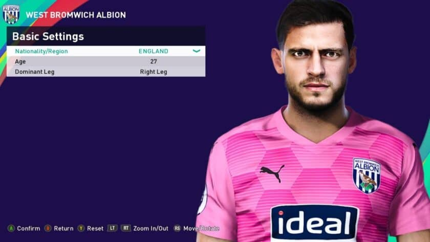 eFootball PES 2021 / Jonathan Bond Face