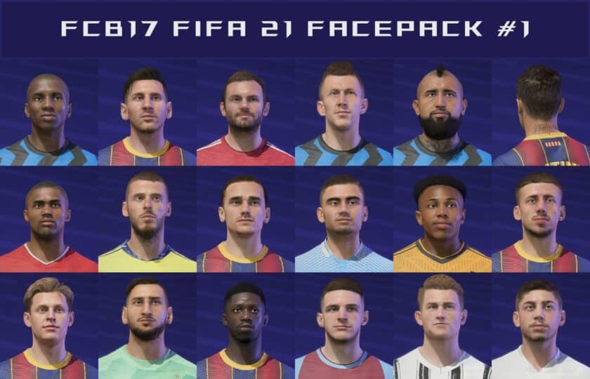 FIFA 21 / Facepack #1by FCB17