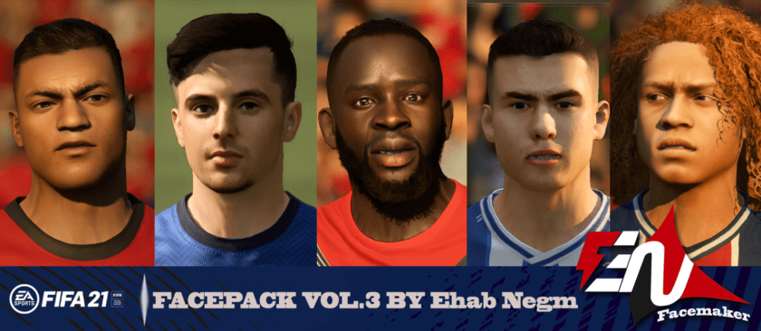 FIFA 21/ Facepack vol.3 by Ehab Negm